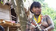 Stock Video Footage of Embera Indian Woman