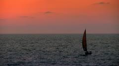 Sunset Sailing Stock Footage