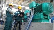 Stock Video Footage of Industrial workers, teamwork