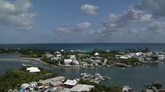 Beautiful Hope Town Harbour  Stock Footage