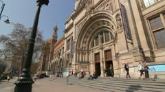 Victoria and Albert Museum. London. - stock footage