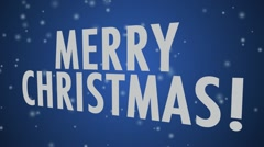 Merry Christmas (multi language) Blue Stock Footage