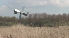 Closeup small windmill - stock footage