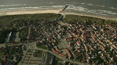 Village by the sea Stock Footage