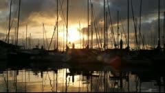 San Diego Yachts Stock Footage
