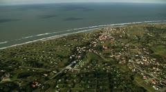 Aerial shot of summer houses near Skagen, Denmark Stock Footage