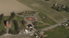 Aerial over Uranienborg Stock Footage