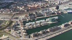 Aerial over the Frederikshavn Citadel, Copenhagen Stock Footage