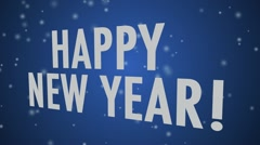 Happy New Year (multi language) Blue Stock Footage