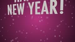 Happy New Year (multi language) Pink Stock Footage
