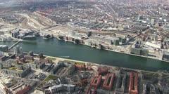 Aerial over Copenhagen inner city - stock footage