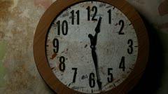 Vintage clock hands moving fast Stock Footage
