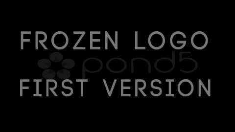After Effects Project - Pond5 Frozen Logo 10910083