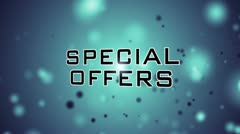 "Stock Video Footage of Specialoffers ""save big"""