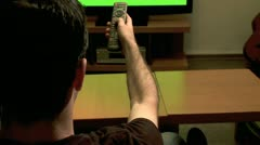 Watching TV - Green screen 2 - stock footage