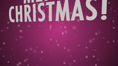 Merry Christmas Pink - multi language Stock Footage