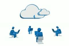Cloud Computing NTSC Stock Footage