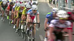 Cyclists race Stock Footage