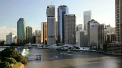 Brisbane skyline, Queensland, Australia Stock Footage