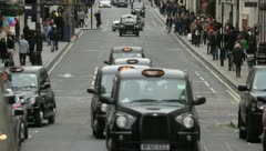London Taxi Stock Footage
