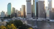Brisbane financial district, Queensland, Australia Stock Footage