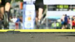 Sport, marathon, finish line Stock Footage