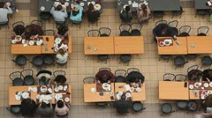 Lunch time, time-lapse - stock footage