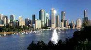 Modern Brisbane, Queensland, Australia Stock Footage