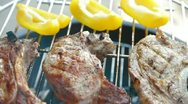 Stock Video Footage of Steaks On Barbecue Grill