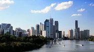 Brisbane skyline, Queensland, Australia Stock Footage