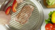Stock Video Footage of Beef Steak Grilled