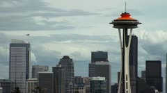 Seattle Space Needle Timeline -- 1080p Stock Footage