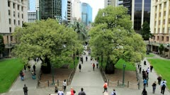 Commuters Anzac Square, Brisbane, Queensland Stock Footage