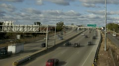 Timelapse Traffic on Highway I94 Stock Footage