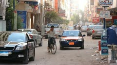 Streets of hurghada Stock Footage