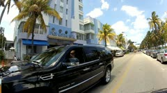 Ocean Drive Miami Beach Stock Footage