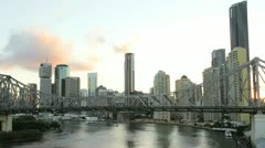 Story Bridge Brisbane, Queensland, Australia, T/L Stock Footage