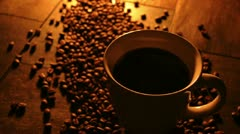 Steaming Coffee Pour Cream 033785 Stock Footage