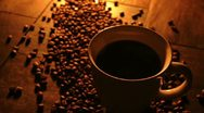 Stock Video Footage of Steaming Coffee Pour Cream 033785