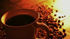 Steaming Coffee Hand Held 033782 Stock Footage