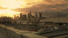 Los Angeles Sunrise Skyline Timelapse Stock Footage