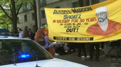 Protest for Russell Maroon Shoatz Stock Footage