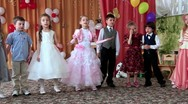 Children in kindergarten Stock Footage