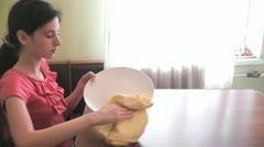 girl washing tableware 01 - stock footage