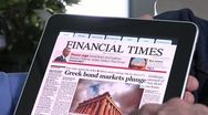 Ipad reading Stock Footage