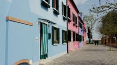 Burano-Venice, Italy Stock Footage