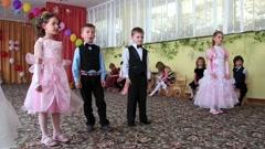 Children in kindergarten Stock Footage