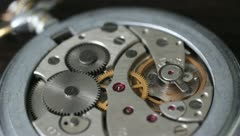 Mechanical pocket watch Stock Footage