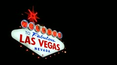 Las Vegas Sign outside Las Vegas - stock footage
