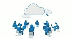 Cloud Computing 4 HD Stock Footage